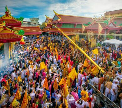Vegan tourism through a traditional Thai festival